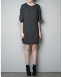 Zara Oversize Maxi Sweater - Lyst