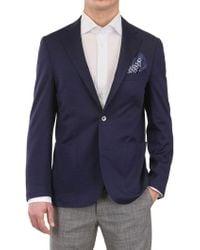 Corneliani Cotton Jersey Blazer blue - Lyst