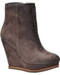 Isola - Zurich Suede Wedge Ankle Boots - Lyst