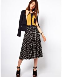ASOS Collection | Skirt in Ponte Check | Lyst