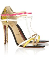Christian Louboutin Arnold 100 Patent Leather Sandals - Lyst