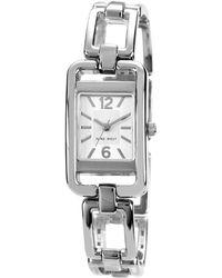Nine West Rectangular Openlink Bracelet Watch - Metallic