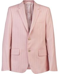 Alexander McQueen Striped Suit - Pink