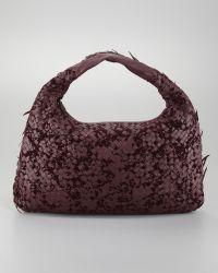 Bottega Veneta Velvet Large Hobo Bag - Lyst