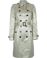 Burberry Vintage Gold Trench Coat - Lyst