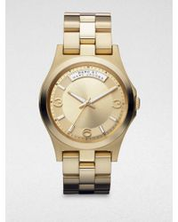 Marc By Marc Jacobs Gold-Tone Stainless Steel Watch - Lyst