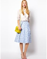ASOS Collection Midi Skirt in Jacquard - Lyst