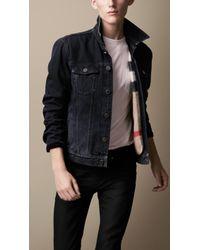 Burberry Brit Vintage Wash Denim Jacket - Lyst