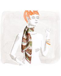 Hermès Parures Des Maharajas Scarf - Lyst