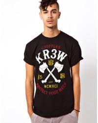 KR3W Choppers Logo T-Shirt - Black