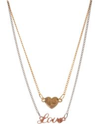 Love - Asos Heart Choker Necklace Pack - Lyst