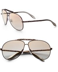Roberto Cavalli Clematis Metal Aviator Sunglasses - Lyst