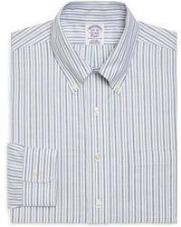 Brooks Brothers Supima Cotton Noniron Regular Fit Alternating Bold Stripe Brookscool Dress Shirt - Lyst