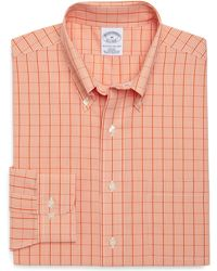 Brooks Brothers Supima Cotton Noniron Slim Fit Gingham with Overcheck Sport Shirt - Lyst