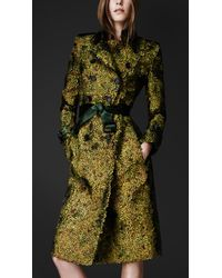 Burberry Prorsum - Peacock Feathered Trench Coat - Lyst