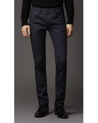 Burberry Shoreditch Overdyed Indigo Skinny Fit Jeans - Lyst