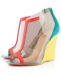 Christian Louboutin Scuba Wedge Sandals - Lyst