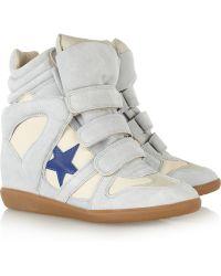 Isabel Marant Hightop Wedge Sneakers - Lyst