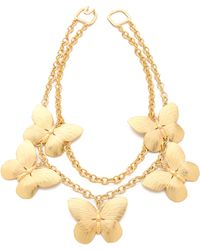 Kenneth Jay Lane - Layered Butterfly Necklace - Lyst