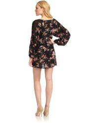 Madison Marcus - Bewildered Sheer Panel Silk Dress - Lyst
