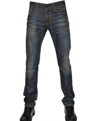 Saint Laurent 16cm Skinny Dirty Strong Used Blue Jeans