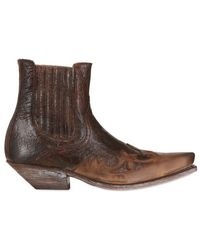 Sendra - Leather Texano Ankle Boots - Lyst