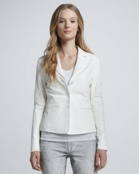 Vince Fitted Leather Blazer - Lyst