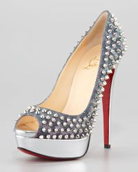 Christian Louboutin Metallic Spike Pump - Lyst