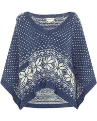 Denim & Supply Ralph Lauren - Knitted Poncho - Lyst