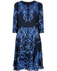 Erdem Leaf Print Dress - Lyst
