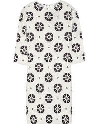 Giulietta - Printed Silk-crepe Dress - Lyst