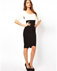 Hybrid Pencil Dress in Two Tone - Lyst