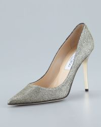 Jimmy Choo Abel Glitter Pointed Pump - Lyst