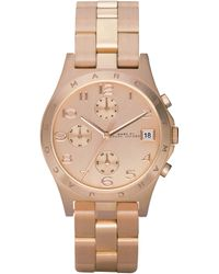 Marc By Marc Jacobs Rose Gold Chronograph Watch - Lyst