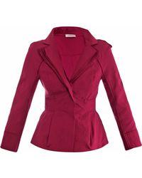 Nina Ricci Layered Lapel Threebutton Jacket - Lyst