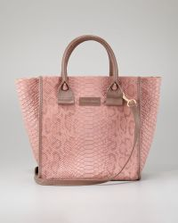 See By Chloé April Python Embossed Zipped Tote Bag - Lyst