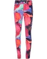 J Brand x Christopher Kane Floral Print Trousers - Lyst
