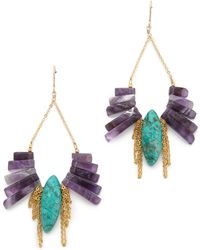 Gemma Redux Amethyst Drop Earrings purple - Lyst