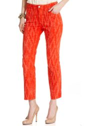 Not Your Daughter's Jeans Alisha Skinny Printed Cropped Cayenne Wash - Lyst
