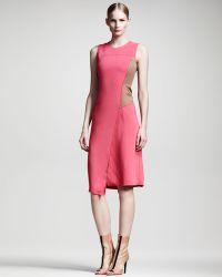 Reed Krakoff Asymmetric Colorblock Dress - Pink