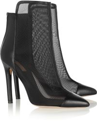 Reed Krakoff Leather and Mesh Ankle Boots - Lyst
