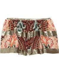 Thakoon - Printed Cotton Crepe De Chine Shorts - Lyst