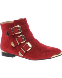 ALDO Buckled Ankle Boots - Red