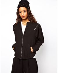 ASOS Collection Soft Bomber Jacket - Lyst