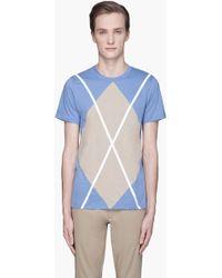 Kris Van Assche - Light Blue Diamond X T-shirt - Lyst