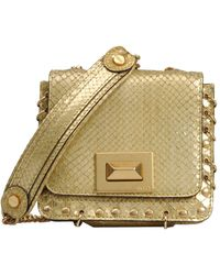 Emilio Pucci Small Leather Bag gold - Lyst