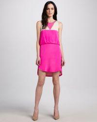 Madison Marcus - Beaded Silk Dress - Lyst