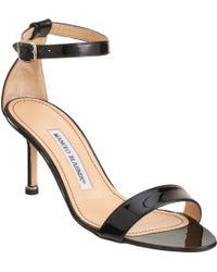 Manolo Blahnik Chaos Ankle-Strap Sandals - Lyst