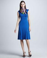 Ralph Lauren Collection Cap-sleeve Easyskirt Dress - Lyst
