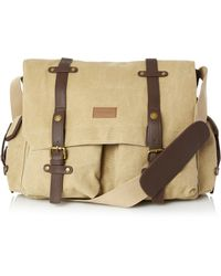 French Connection Forrest Cotton Messenger - Blue